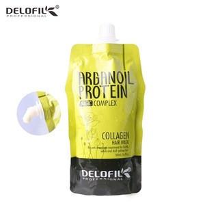 Delofil superior grade scalp massage cuticle repair deep conditioning collagen protein hair mask argan oil treatment