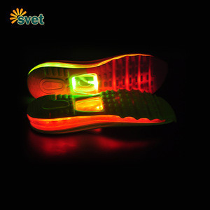 EVA shoe sole for rechargeable battery operated led shoes light