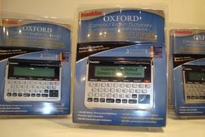 FRANKLIN ELECTRONIC DICTIONARIES, TRANSLATORS, DIGITAL DIARIES, BOOKMAN CARDS