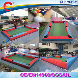 Free air ship to door,6x4m Outdoor giant human inflatable snooker soccer pool table,Inflatable snook ball Billiards Table field