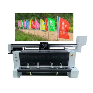 Guangzhou 6ft Digital Direct Flag Printer Price 2.3m 3.2m Dye Sublimation Garment Plotter for Polyester Cotton Fabric Bed Sheet