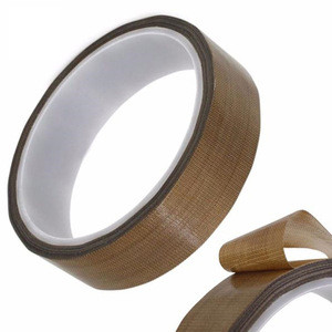 High performance heat resistant teflon PTFE glass cloth adhesive tape for bag sealing machine tape