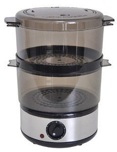 Hot sale double tray 400W electric portable food steamer