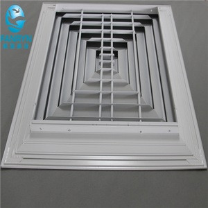 HVAC air conditioning supplying 4-way diffuser