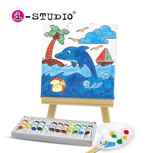 Istudio kids canvas painting coloring art and crafts kit for oem or odm