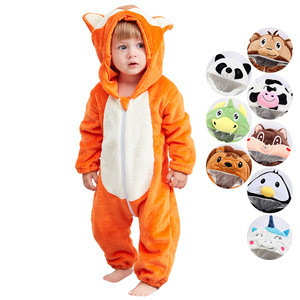MICHLEY Hot Sale Christmas Rompers Halloween Cosplay Girls Boys Baby Animal Costume