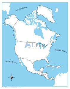 Montessori-Unlabeled North America Control Map