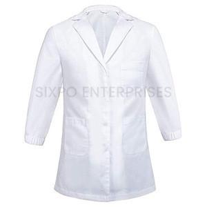 OEM Wholesale white Color Hospital Staff Uniform Lab Coat Custom Size Lab Coat For Men