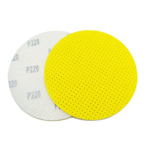 SATC  9 inch 225 mm 220 Grit Yellow Multi-hole Drywall Clean Sanding Disc