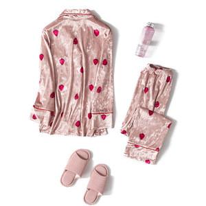 Silk sleepwear sexy pajamas accept customized