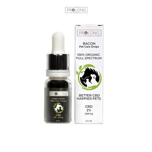 Top Quality High Grade Hemp Extract Prolong Pet Care 10ml Bacon Flavour Pure CBD Oil