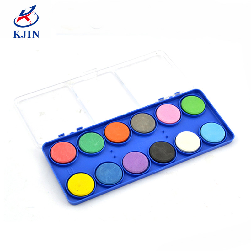Transparent box packing solid 12colors drawing dry paint