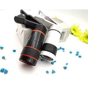 Universal New Mobile Phone Lenses External Camera 8x Times Zoom Cell Phone Telescope Clip lens