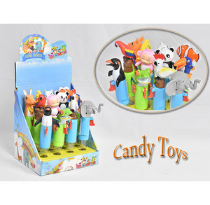 Wholesale new animal design plastic candy toys cheap and put sweet sugar