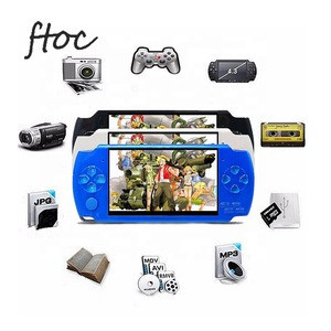 X6 Handheld Game Console 4.3 Inch Screen 32 bit Video Games Consoles Game Player Real 8GB For PSP, Camera,Video,E-book