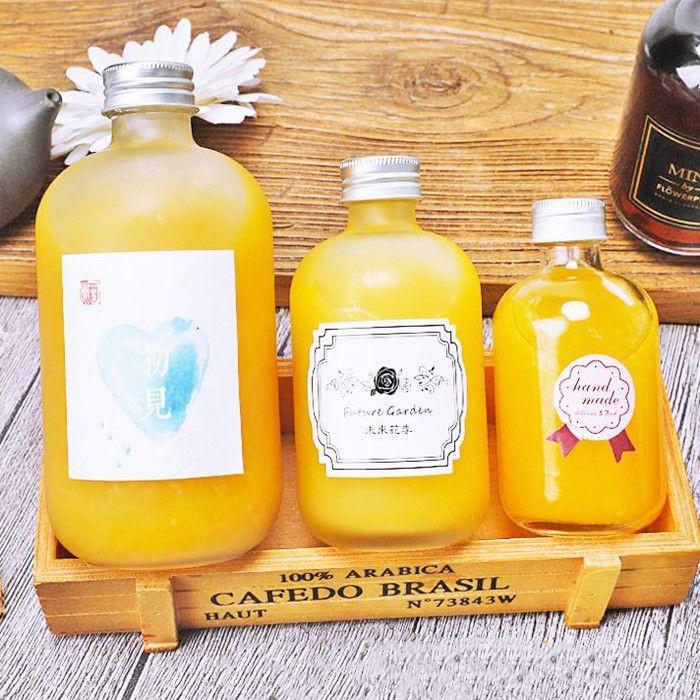 Boston round juice glass bottles