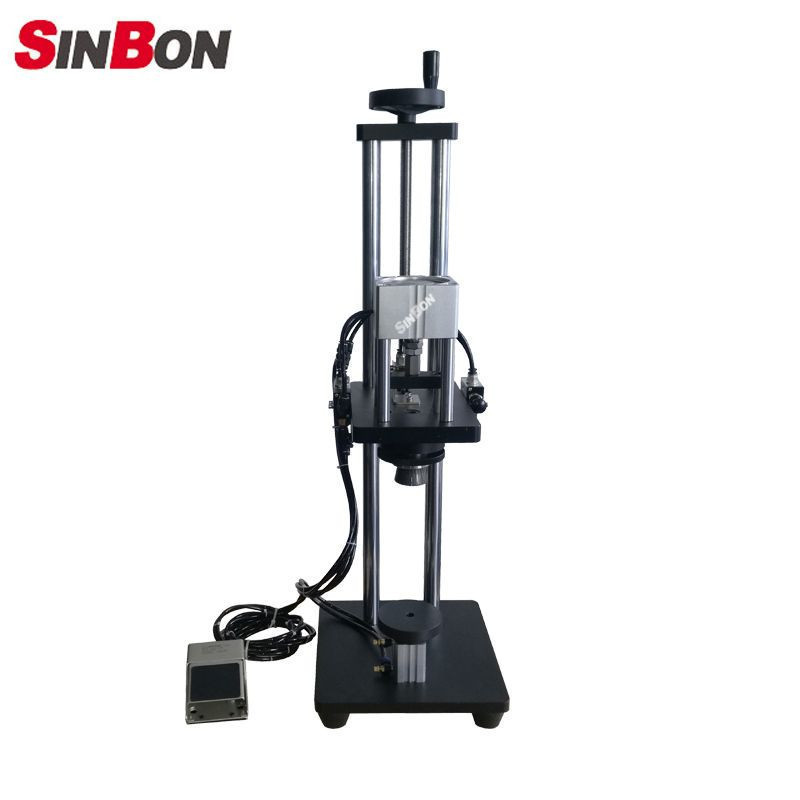 Semi-Automatic Pneumatic Perfume Bottle Spray Cap Crimping Machine