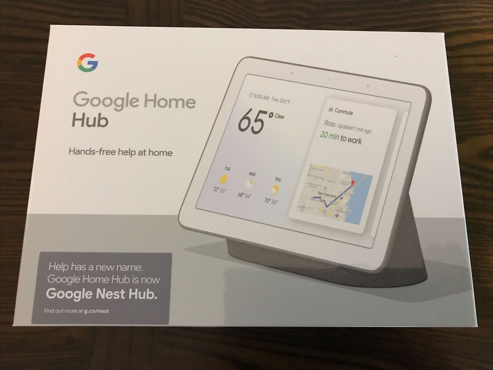 Google Home Hub with Google Assistant - GA00515 -  WhatsApp Chat: +1 (505)-257-0347
