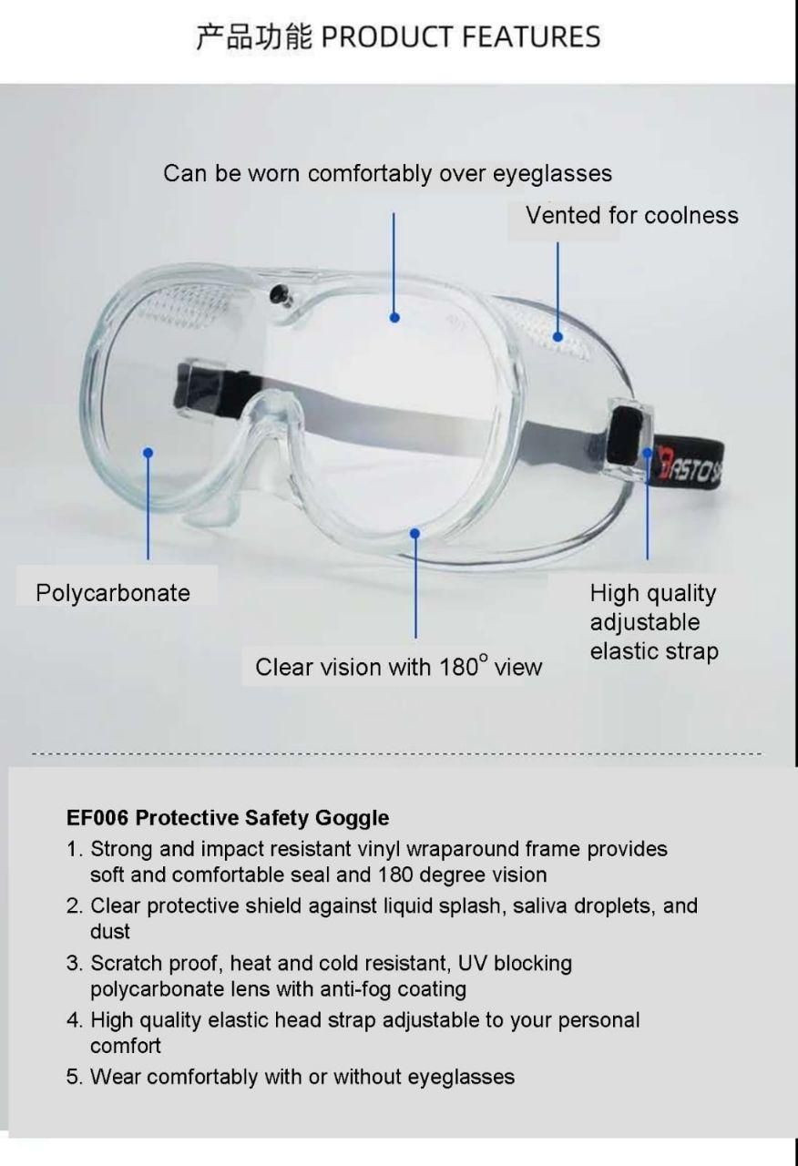 Safety Vynil Goggle