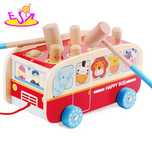 2018 Cheap kid's car toy,mini different colors wooden car W04A341