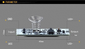 3A DC5V/12V LED Bar Light Dimmer Touch Sensor Module for Furniture Alu Profile