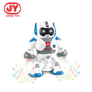 B/O toy plastic smart rotating robot educational Intelligent robot toy with sound light