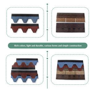 Colored asphalt felt tile roofing waterproof moisture-proof material colorful glass fiber leach roofing tile