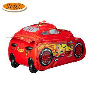 Cute cartoon car shape rolling luggage for kids
