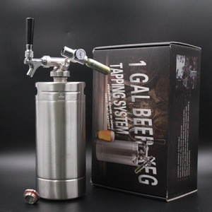 Free sample low MOQ portable full set mini draft beer keg dispenser with unique gift box in stock