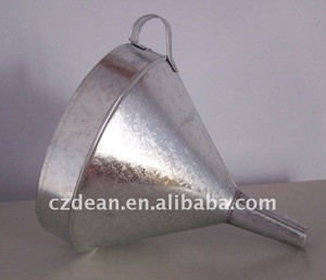Galvanized Oil Funnels, aluminum, or brass , copper alloy ,filter