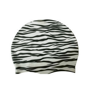 High Quality 20*23cm  Silicone Printed Swim Cap