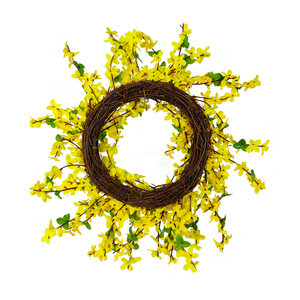 High quality winter jasmine flower Christmas Wreath Decoration Christmas Wreath and Garland for home
