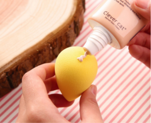 Hot selling wet and dry cosmetic puff facial powder blender sponge puff pads