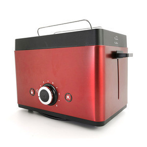Household Breakfast Maker Bread Toaster Stainless Steel 2 Slices Automatic Fast Heating