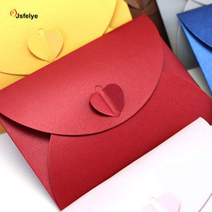 Kraft Heart Mini Letter Envelopes Business Card Case Holder Blank Envelope