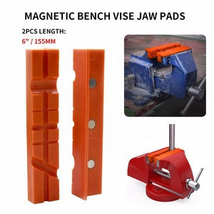 Pair Of Magnetic Soft Pad Jaws Rubber For Metal Vise 6 Inch Long Pad Bench Vice Se