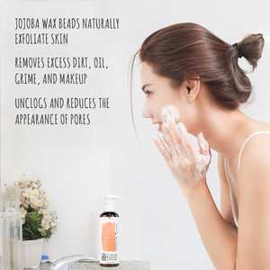 Private Label Organic Exfoliating Facial Cleanser Clears And Prevents Acne Face Wash