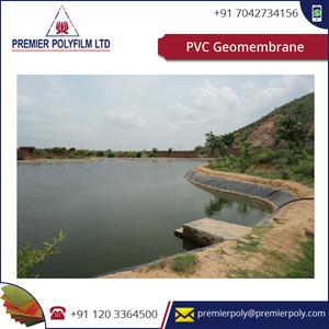 PVC Geomembrane for Artificial Lakes Ponds, Aqua farming, Irrigation Canals