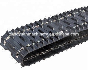 Rubber track for snow vehicle snowmobiles