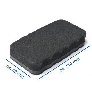 Set of 5 pieces ergonomic shape custom dry EVA felt magnetic whiteboard eraser