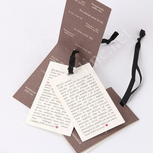 Sinicline Garment Labels Manufacture White Folded Paper Hang Tag