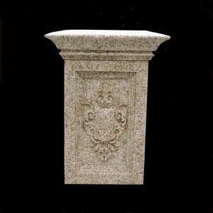 Square Gold Ma Granite Gate Pillar Design (YL-L243)