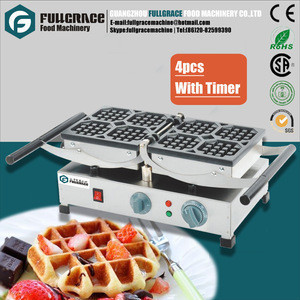 Stainless steel electric belgium waffle maker with timer