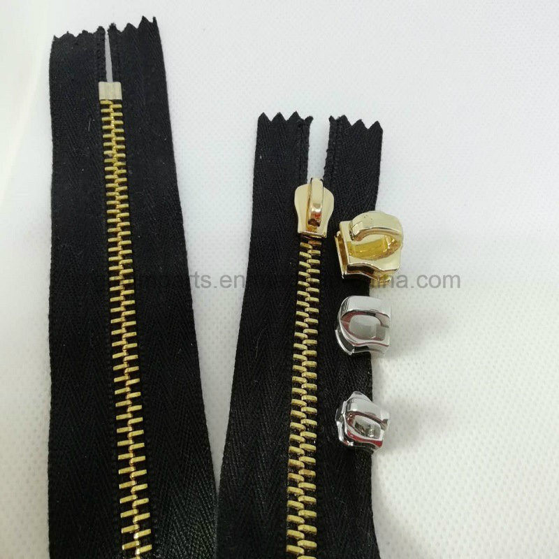 Stainless Steel Zipper Stoper Zipper Puller for Luggages Handbags Geans Metal Accessories