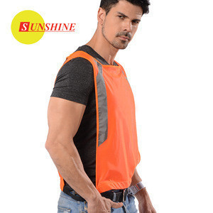 Various Size  orange reflective protective clothing mens vest safety