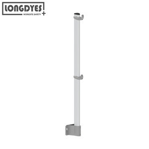 Wall Mounting Aluminium  Rooftop Guardrail With Straight Uprights