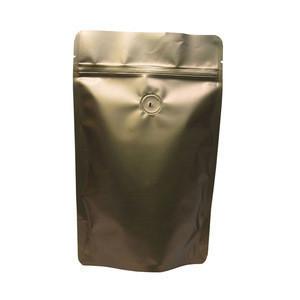 Wholesale custom printed reusable ziplock aluminium pouch bag aluminum foil pouch bags for packing coffee bean medicine snack