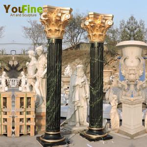 Wholesale Decorative Round Pillar Outdoor Marble Columns