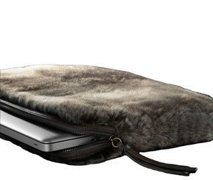 Wholesale faux fur pure color clutch Bag