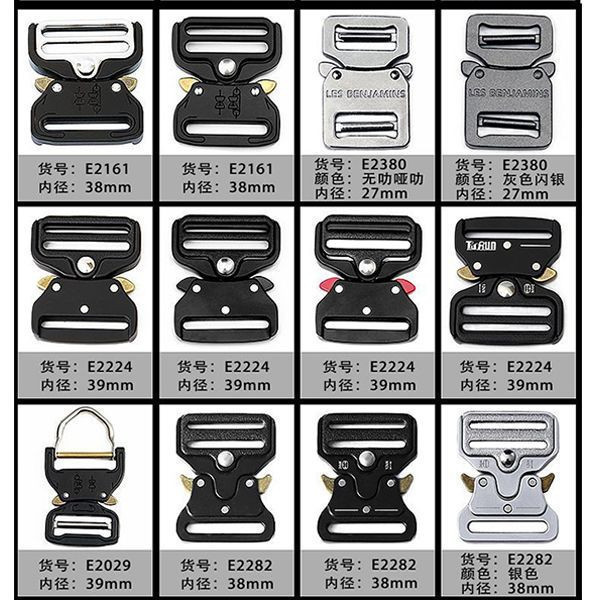Wholesale 38mm / 45mm / 50mm Custom Metal Military Cobra buckle For Belt